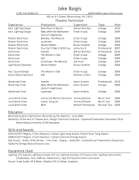 exles of actors resumes qualifications resume technical theatre resume templates acting