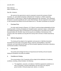 letter of intent sample 5 templates u0026 formats in word pdf