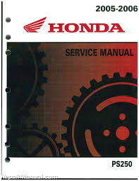 2005 2006 honda ps250 big ruckus scooter service manual 61ktb01