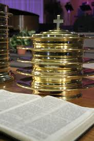 communion plates communion plates and bible stock photo image of gift 2578640