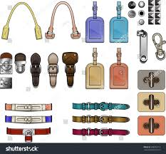 design accessories handbag design elements accessories closures hardware stock vector