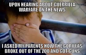 Gorilla Warfare Meme - this meme has never been more appropriate rebrn com