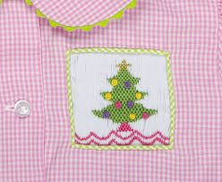 smocked pink christmas tree girls loungewear u2013 stellybelly