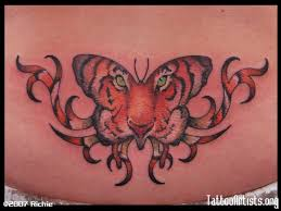 tiger large butterfly on tattooshunt com