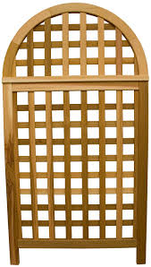 amazon com arboria andover arch privacy screen cedar wood over