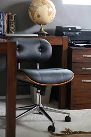 Wood Desk Chair Without Wheels Furniture Comfortable And Stylish Addition For Your Home Office