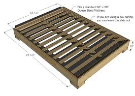 How To Build A Wood Platform Bed Frame by Ana White Much More Than A Chunky Leg Bed Frame Diy Projects
