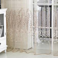 How To Hang Sheer Curtains With Drapes Amazon Com Norbi Fresh Floral Print Tulle Voile Door Window Rom