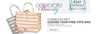 Macy     s   Shop Fashion Clothing  amp  Accessories   Official Site      Celebrate Beauty  Cosmetics gift  Choose your free tote bag with sixty five dollar cosmetics
