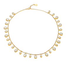 white necklace gold images Tracey necklace gold white cz melinda maria jewelry jpg