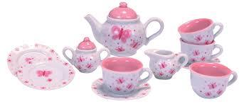 tea set schylling butterfly porcelain tea set toys