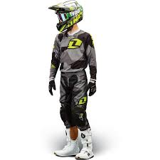 motocross gear set one industries youth atom jersey camoto gray crazy dogs motorcycles