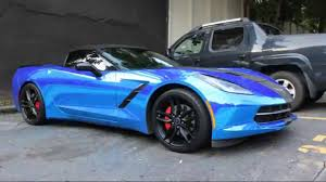 atlanta corvette whipaddict blue chrome c7 corvette stingray convertible by