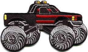 monster truck 4 4 pickup auto racing irononideapatches zibbet