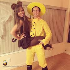 Tall Man Halloween Costumes Man Yellow Hat Curious George Couple Costume Curious