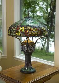 mini stained glass ls mission oak table ls prairie tiffany style jeweled finish l