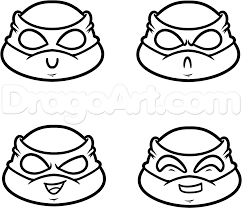 draw chibi teenage mutant ninja turtles step by step drawing