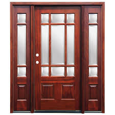9 Lite Exterior Door Pacific Entries 66 In X 80 In Craftsman 9 Lite Stained Mahogany