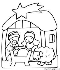 christmas coloring sheets kindergarten nativity scene