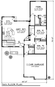 bungalow style house plan 3 beds 2 baths 1581 sq ft plan 70 904