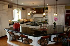 Black Granite Kitchen Table by Blue Dining Table With White Top White Subway Tile Backsplash