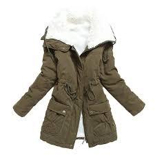 aro lora women s winter warm faux lamb wool coat parka