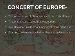 la quote definition history of the concert of europe 1815 22
