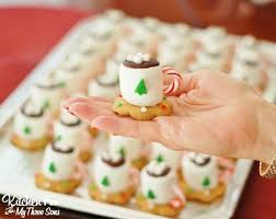 christmas treats cocoa marshmallow cookie cups kitchen fun