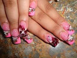 pink pink pink bling bling nail art archive style nails