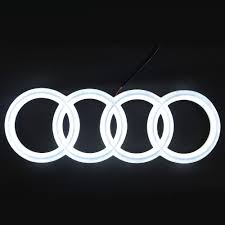 first audi logo audi led emblem badge rings logo white drl front grill car a1 a3