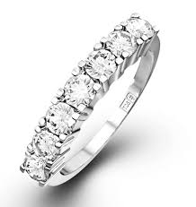 platinum rings stones images Chloe platinum 7 stone diamond eternity ring 0 75ct h si item jpg