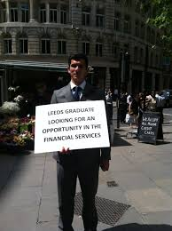 Seeking Liverpool Student With Sandwich Board Seen Seeking Employment Outside