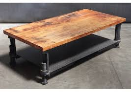 steel and wood table top adjustable steel base coffee table