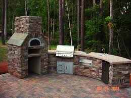 Building An Outdoor Brick Fireplace by Kitchen Ideas Outdoor Kitchen Oven Commercial Wood Fired Pizza