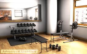 home gym interior design gym weights 3d model