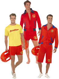 bay watch halloween costumes mens baywatch lifeguard sports uniform fancy dress 90s tv stag