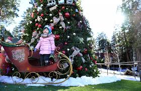 it u0027s a retro southern california christmas as santa u0027s village