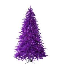 purple christmas tree 7 5 foot pre lit ash purple christmas tree with purple lights