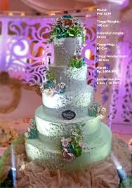 wedding cake 5 tiers by pelangi cake bridestory