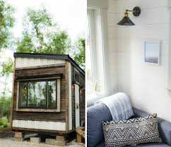this light filled tiny house is made almost entirely of reclaimed