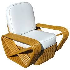 paul frankl style square pretzel rattan lounge chair saturday