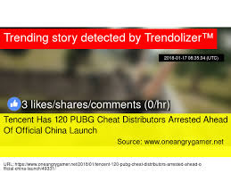 pubg 0 for url tencent has 120 pubg cheat distributors arrested ahead of official