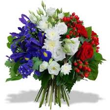 sympathy flowers flowers bleu blanc