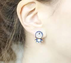 two way earrings big mickey mouse studs earrings in matte gold