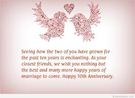 marriage celebration quotes happy 10rd marriage anniversary quotes wallpapers hd