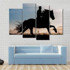 Horse Decoration For Home Compare Prices On Silhouette Oil Painting Online Shopping Buy Low