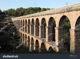 ancient roman aqueduct tarragona spain stock photo 87882517