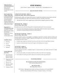 security guard resume templates sample job and resume template