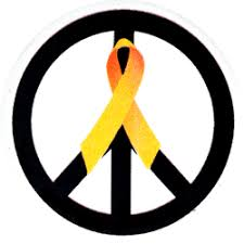 black and yellow ribbon peace sign black with yellow ribbon button peace resource