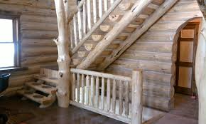 gv wood products log stair systems